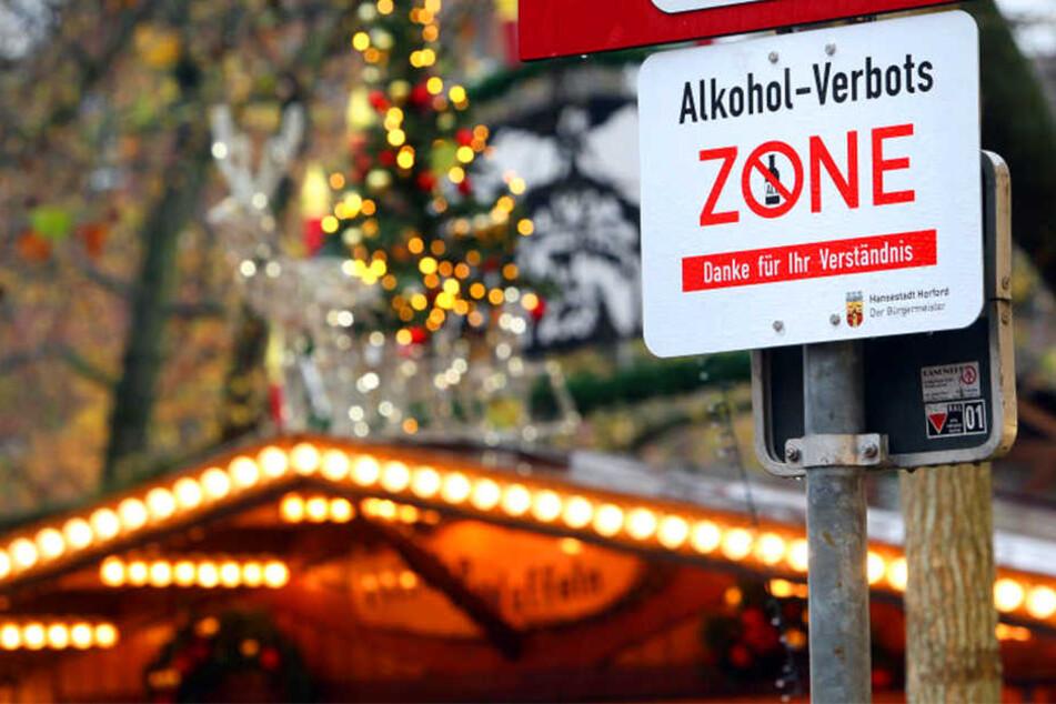 Das Alkohol-Verbot auf dem Linnenbauerplatz gilt auch zur Weihnachtszeit.