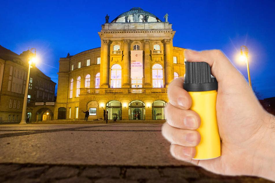 Chemnitz: Pfefferspray-Angriff mitten in Chemnitz: Gruppe greift Passanten an