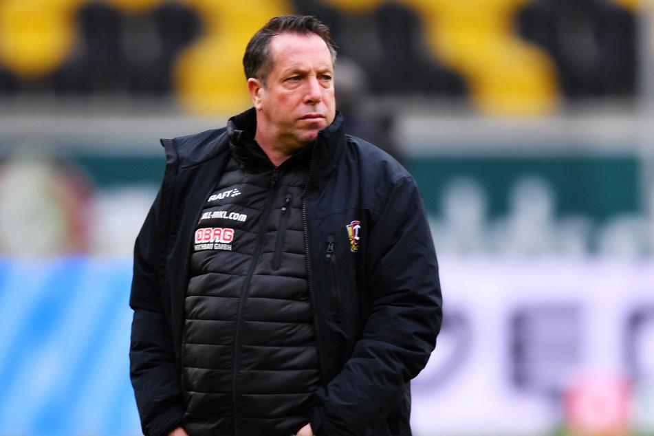 Dynamo-Coach Markus Kauczinski (51) verfiel nach dem 4:0-Sieg seines Teams über den FC Ingolstadt 04 nicht in Euphorie.