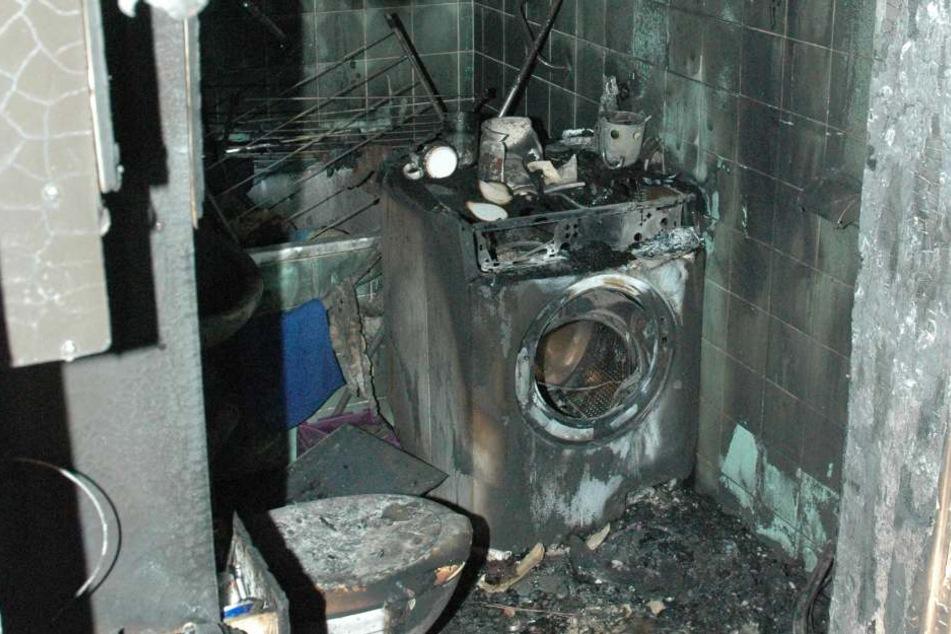 Ein technischer Defekt der Waschmachine war wohl die Brandursache.