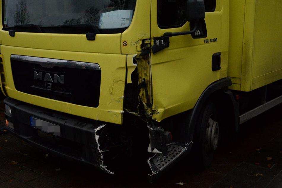 Der Truck aus Bielefeld hatte es nicht so stark getroffen.