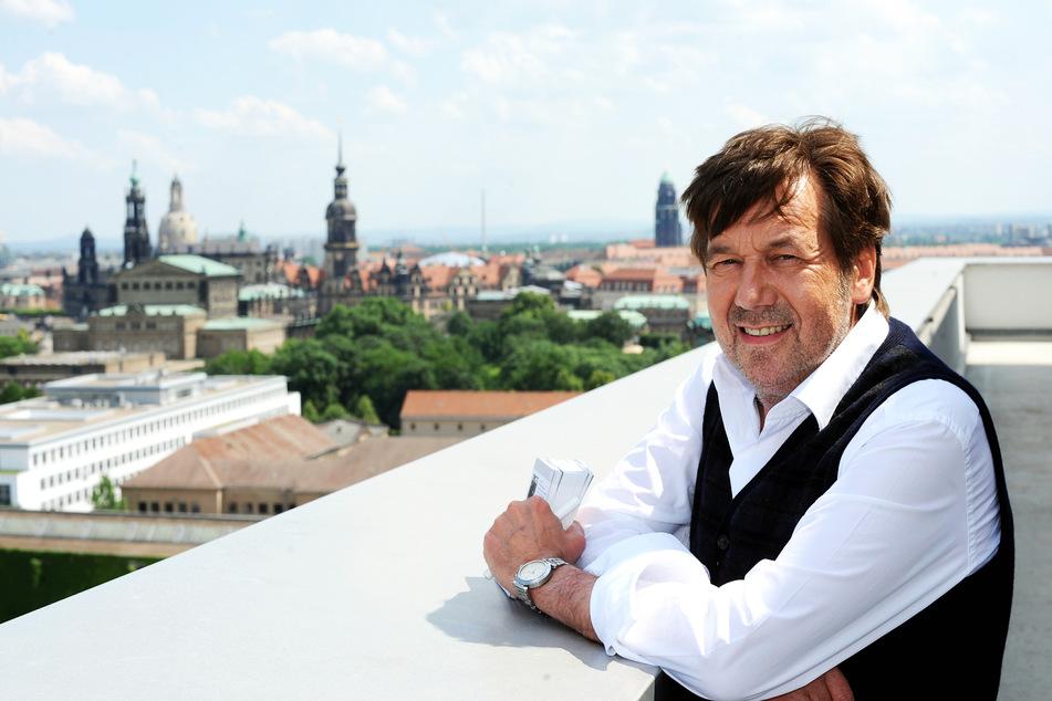 Roland Kaiser 2011 auf dem Dach der TAG24-Redaktion. Die gewonnene Lebensqualität nach der Transplantation war ihm anzusehen.