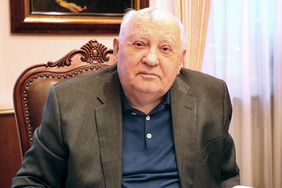 Der ehemalige Präsident der Sowjetunion, Michail Gorbatschow, in seinem Büro in Moskau.