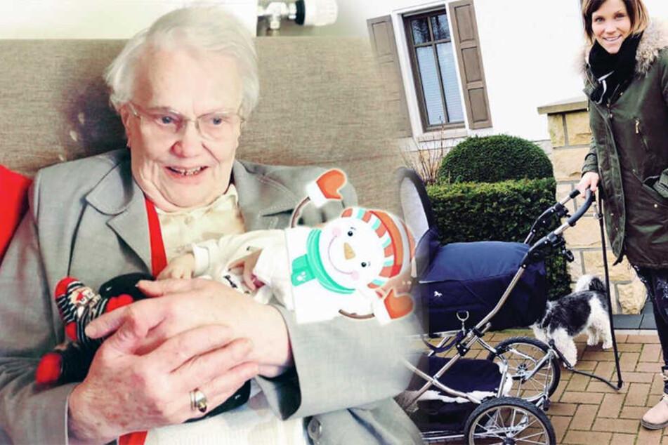Süße Familien-Zusammenführung! Anna-Marias Oma lernt Urenkel kennen