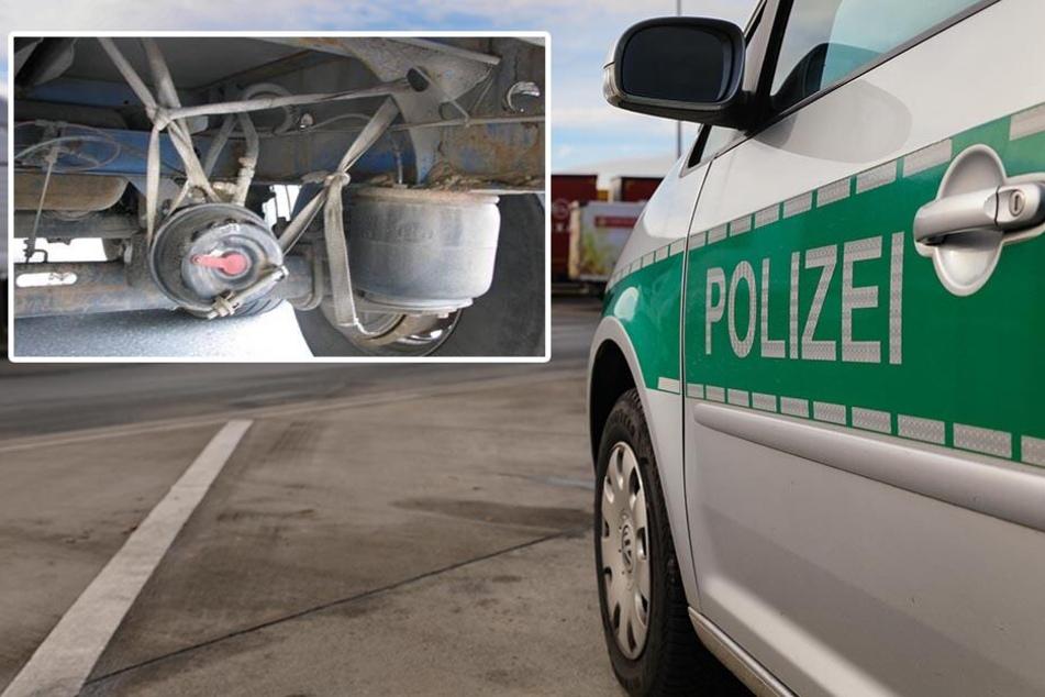 A4: Polizei zieht gefährliche Lkw aus dem Verkehr