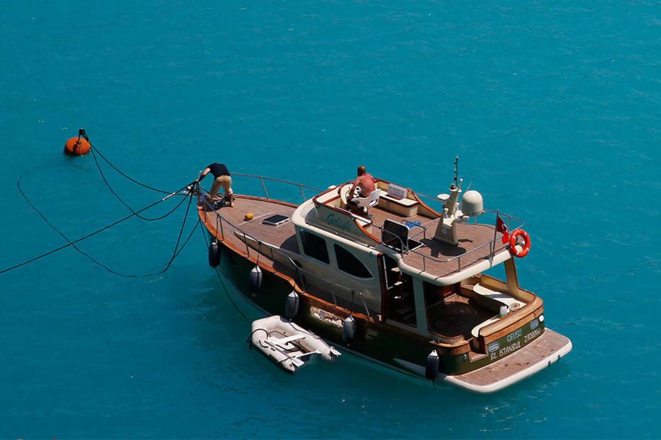 Das Meerwasser von Bosporus und Schwarzem Meer hat sich türkis verfärbt.