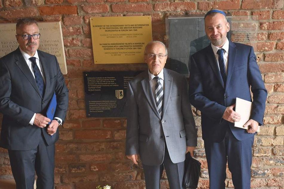 Gedenkstätte Theresienstadt: Gedenktafel erinnert an Chemnitzer Juden