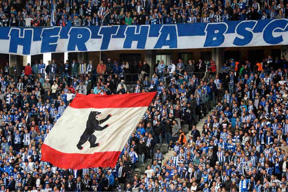 Hertha BSC rechnet am Sonntag mit 40.000 Zuschauern im Olympiastadion (Archivbild).