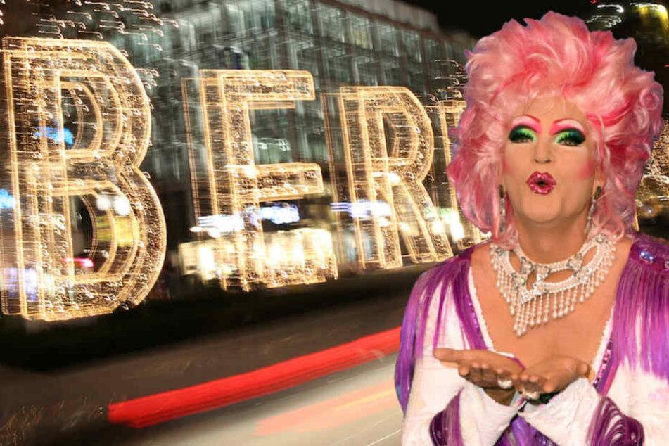 Drag-Queen Olivia Jones (48) hält Berlin für internationaler und etwas vielfältiger als Hamburg. (Bildmontage)