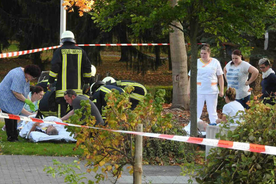 Das Pflegeheim wurde am Montagnachmittag evakuiert.