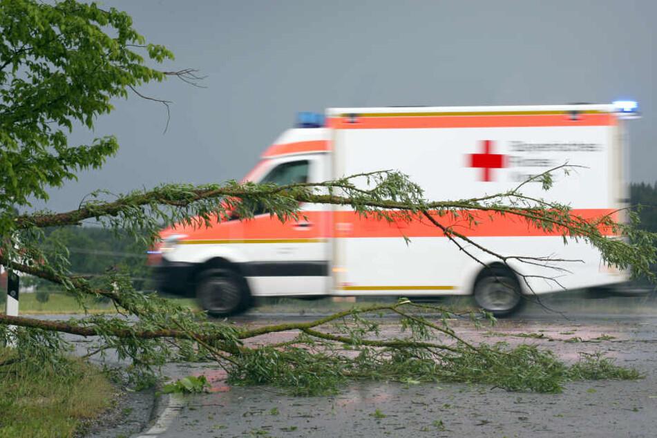 Tödlicher Arbeitsunfall im Erzgebirge: Mann stirbt im Krankenhaus