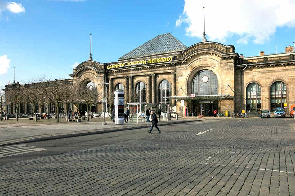 Am Bahnhof Neustadt trieb ein 63-jähriger Dresdner sein Unwesen.
