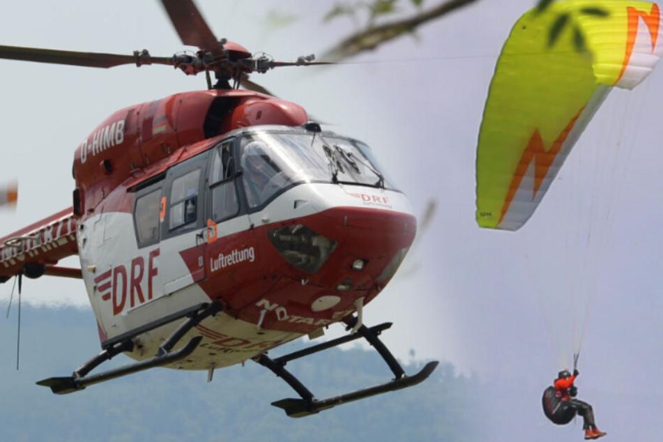 Heftig! 62-jähriger Gleitschirmflieger stürzt in die Tiefe