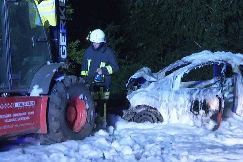 Beim Abbau des Highfield-Festivals ist ein Auto in einen Gabelstapler gekracht.