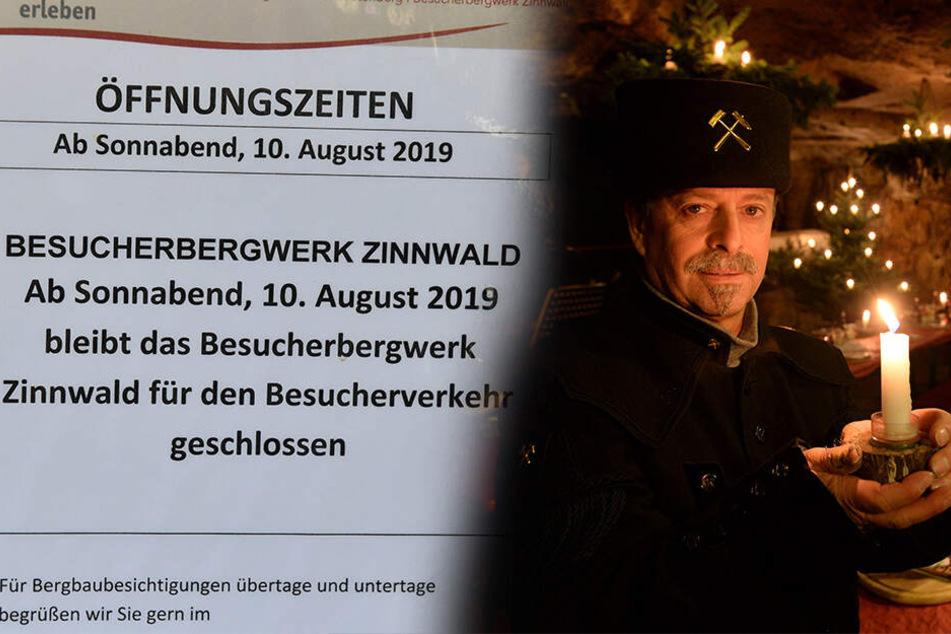 Besucherbergwerk Zinnwald in Not: Kaum Welterbe, schon geschlossen!