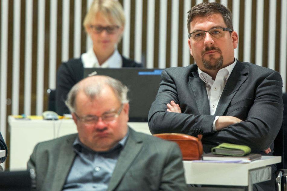 Holger Arppe (r.) muss erneut vor Gericht erscheinen.