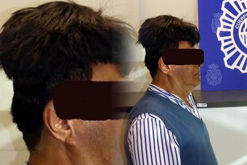 Der Mann hatte ein verdächtiges Toupet auf dem Kopf.