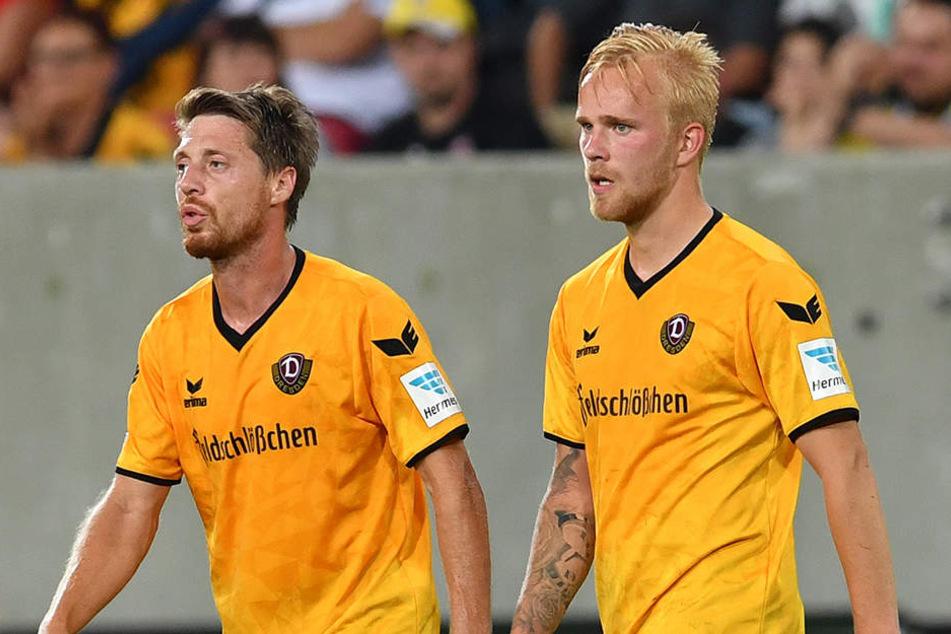 Darf ausgerechnet bei der Lumpi-Rückkehr nach Düsseldorf sein Debüt im Kader geben: Marcel Hilßner (r.). Hier beim Bundeswehkarriere-Cup.