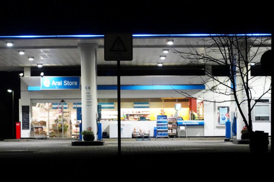Diese ARAL-Tankstelle in Bautzen sollte angeblich überfallen worden sein.