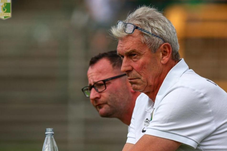 BSG-Trainer Dietmar Demuth konnte sich das erste Mal in dieser Saison nicht über einen Sieg von Chemie Leipzig freuen. (Archivbild)