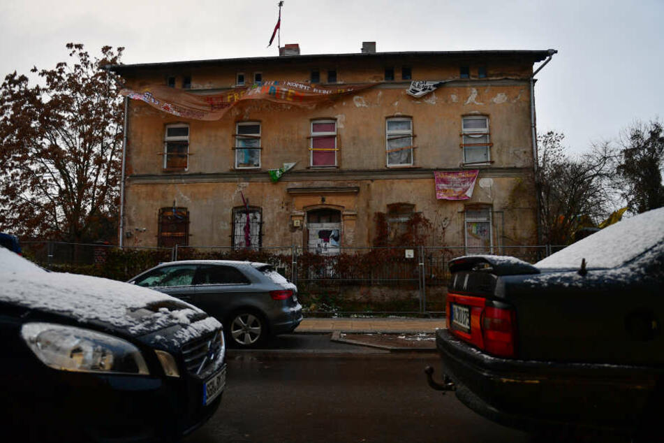 """Das besetzte Haus """"Hasi"""" in Halle soll am 18. Dezember geräumt werden."""