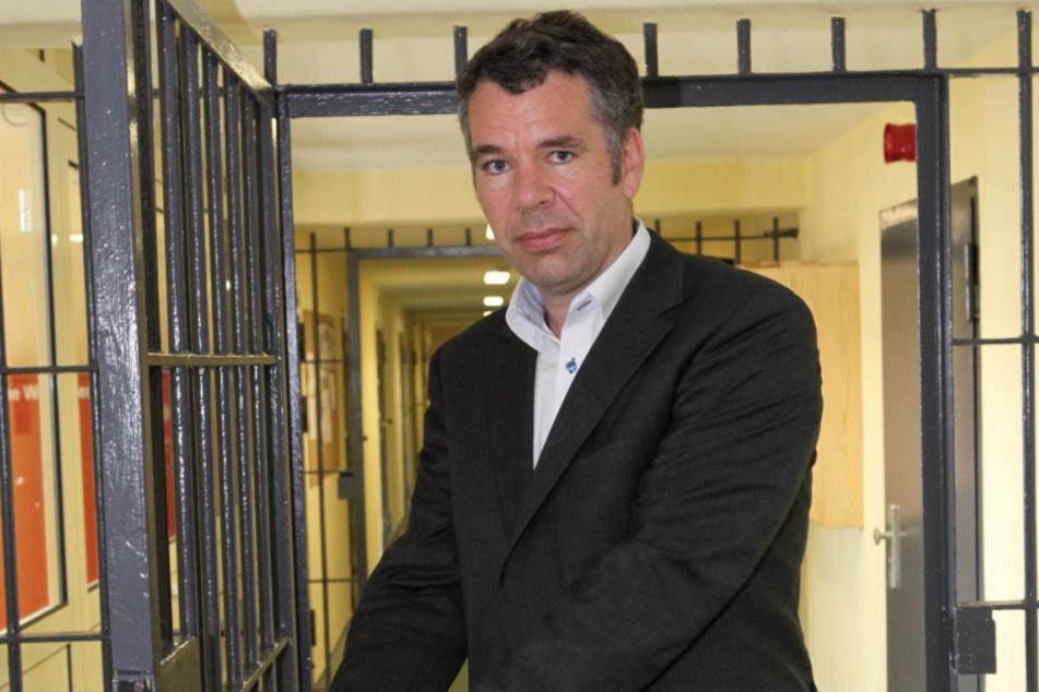 Thomas Galli (43) während seiner Zeit als Knastchef in Zeithain.
