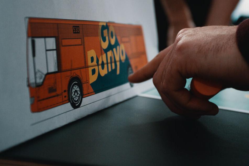 Der Bus soll von Außen sofort erkennbar sein.
