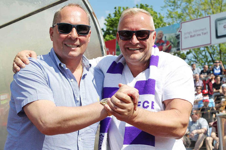 Die beiden mussten zuletzt fieberhaft nach einem neuen Trainer suchen: Helge Leonhardt und Michael Voigt.