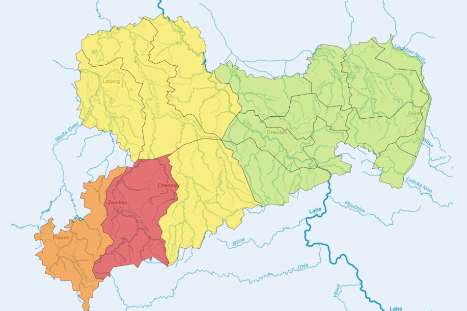 Der Vogtlandkreis ist neben dem Gebiet zwischen Zwickau und Chemnitz am meisten von Hochwasser gefährdet.