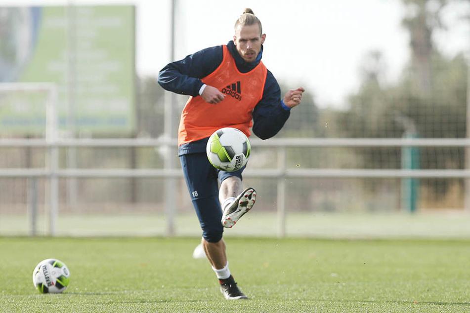 Maurice Trapp hat seit dem Spanien-Camp Probleme im rechten Knie.