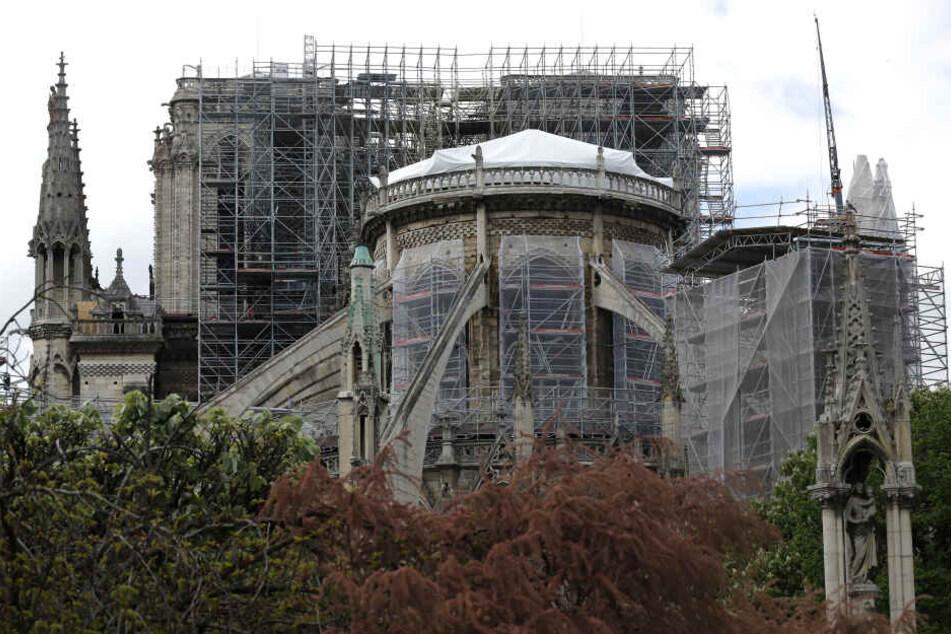 Nach dem verheerenden Brand von Notre-Dame gehen die Sicherungsarbeiten an der Kathedrale weiter.