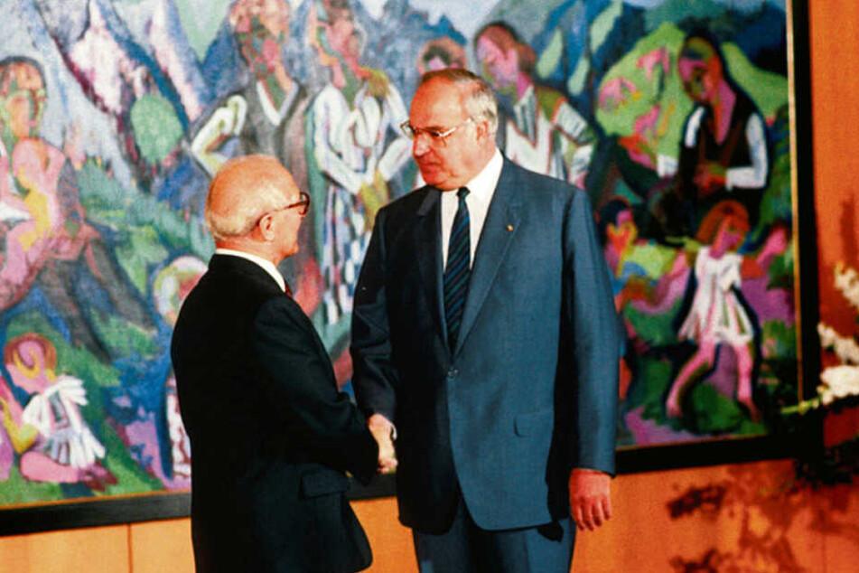 Der erste und einzige Staatsbesuch von Erich Honecker 1987 bei Bundeskanzler Helmut Kohl. Danach schlossen viele Kommunen in Ost und West Städtepartnerschaften.