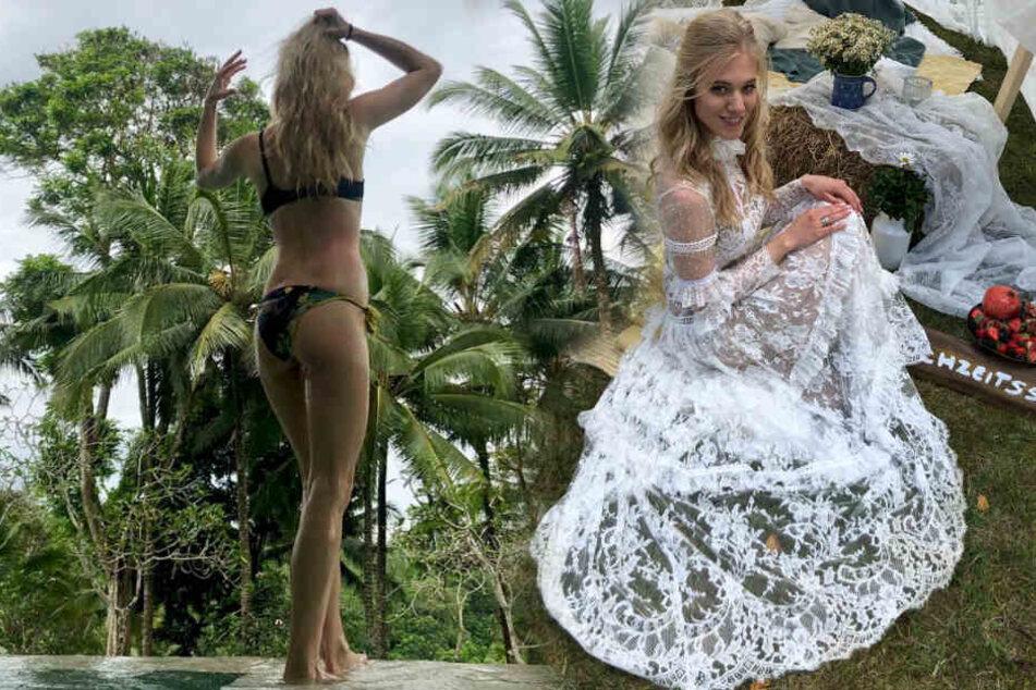 """Im Dschungel wurde sie nur Vize-Königin, die Herzen der Fans eroberte Larissa (26) bei """"Sturm der Liebe"""". (Bildmontage)"""