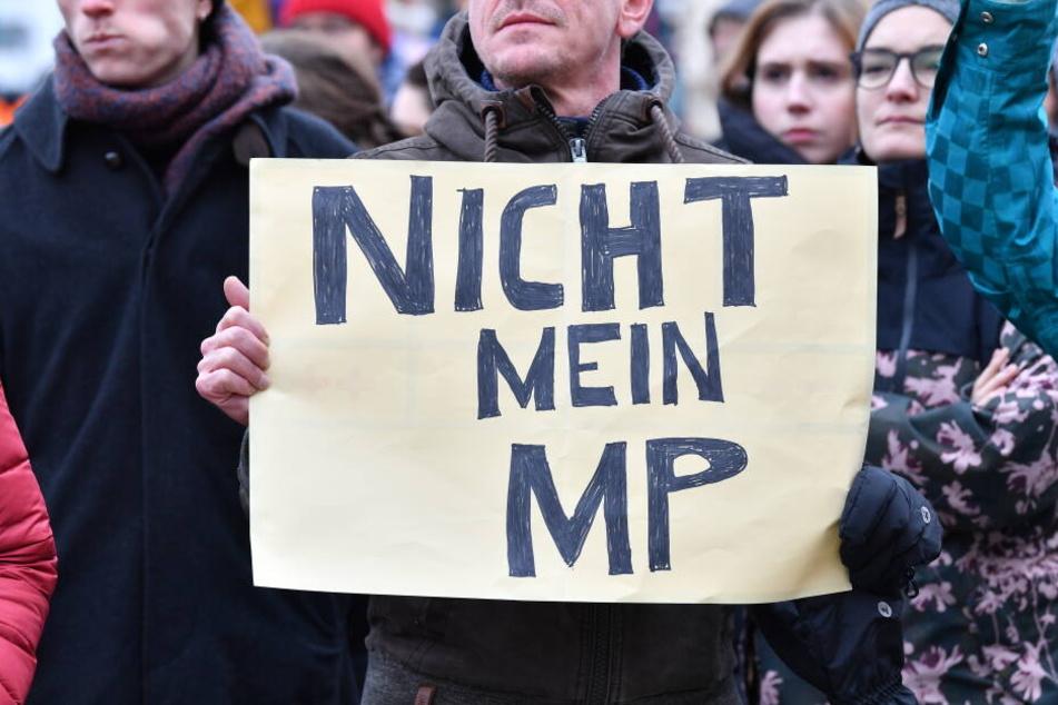 In Thüringen war der Widerstand nach der Wahl groß.