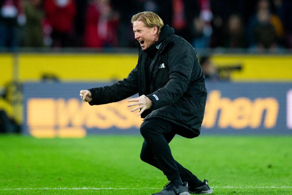 Trainer Markus Gisdol holte mit dem 1. FC Köln bereits sieben Siege.
