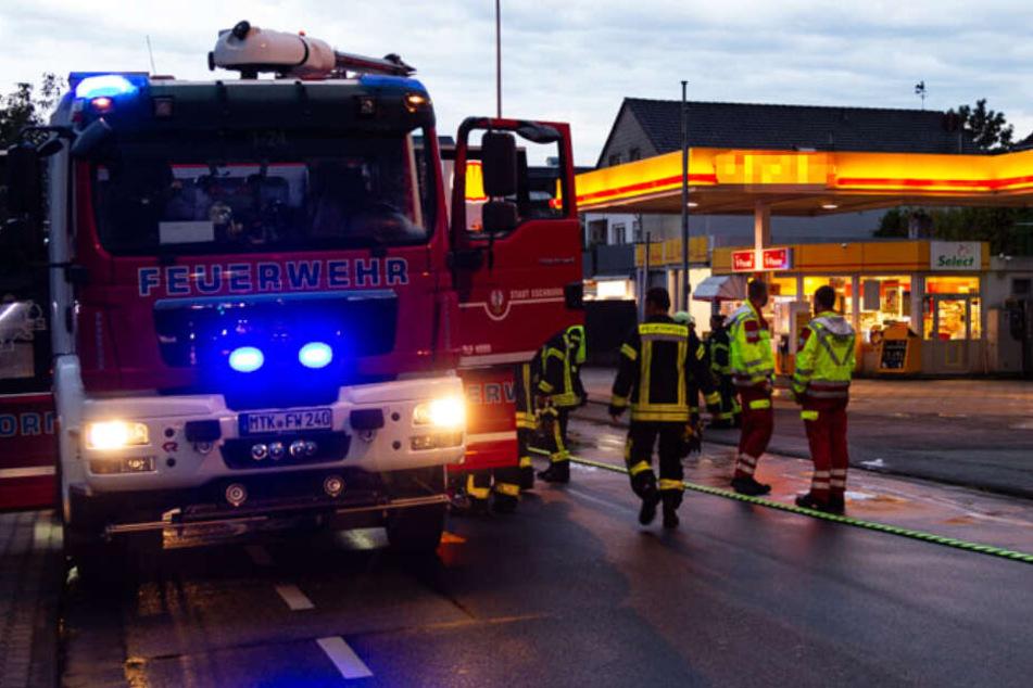 Der Brand ereignete sich bei einer Tankstelle in Eschborn.