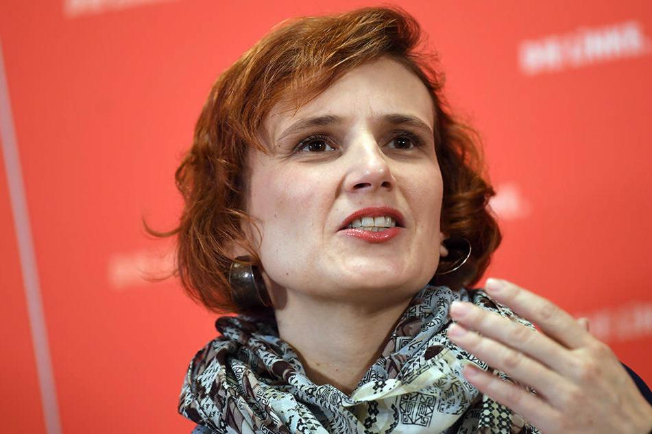"""Katja Kipping, die Parteivorsitzende der Partei """"Die Linke""""."""
