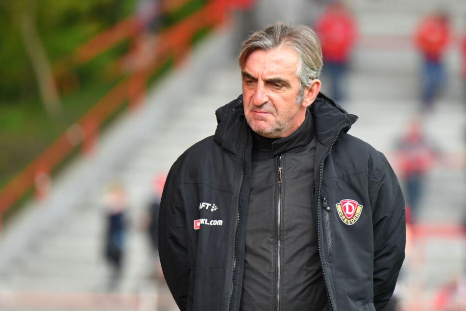 Ralf Minge mit ernstem Blick: Der Sportchef von Dynamo gesteht Fehler in der Kaderplanung ein.