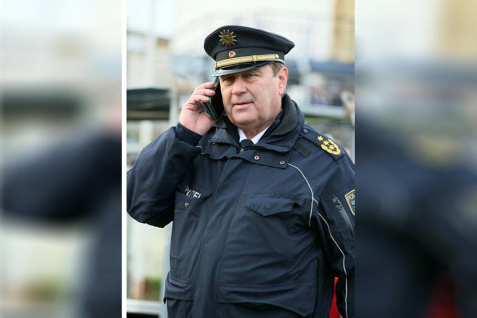 Sein Sicherheitskonzept ging auf: Leipzigs Polizeipräsident Bernd Merbitz (61).