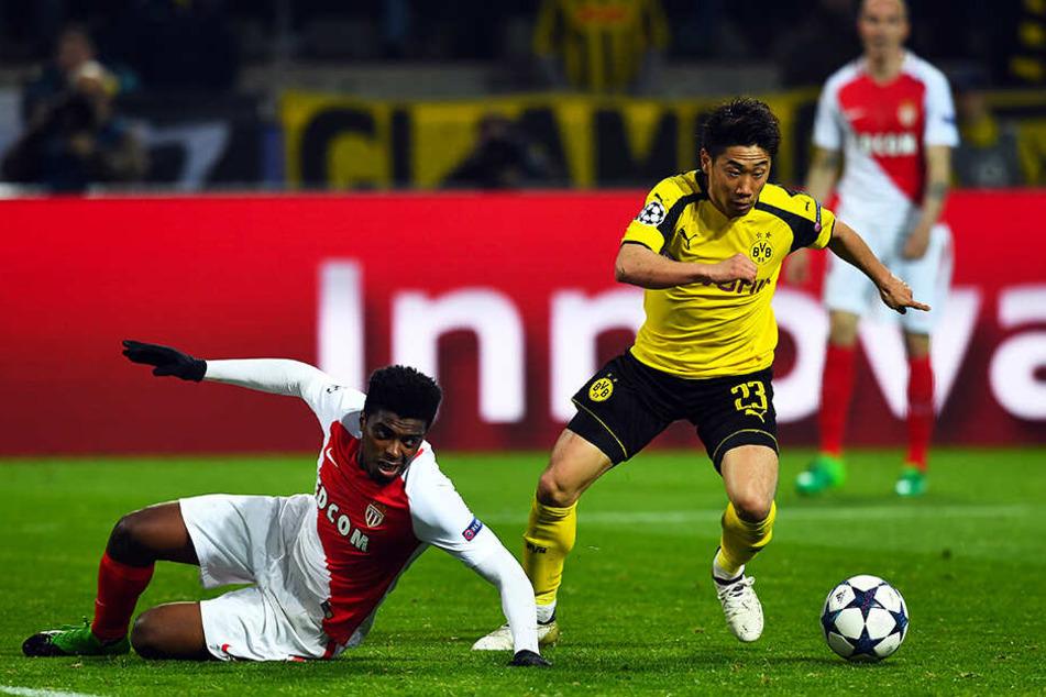 Im Duell mit seinem zukünftigen Verein? In der Champions League spielte Shinji Kagawa (r.) bereits mit dem BVB gegen den AS Monaco.