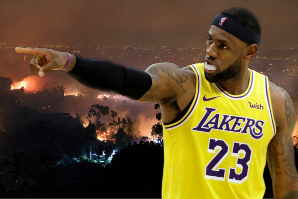 NBA-Superstar LeBron James (34) von den Los Angeles Lakers.