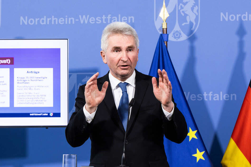Andreas Pinkwart (FDP) verkündete am Dienstag, dass junge Unternehmensgründer sich in NRW nicht von der Corona-Pandemie abschrecken ließen.