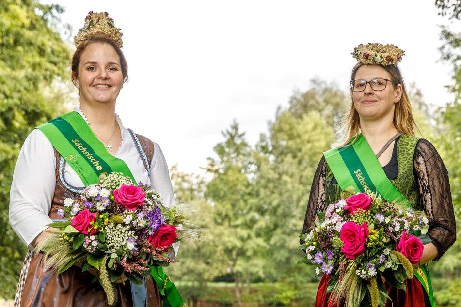 Unsere neuen Ernte-Hoheiten: Wibke und Sandra halten Hof