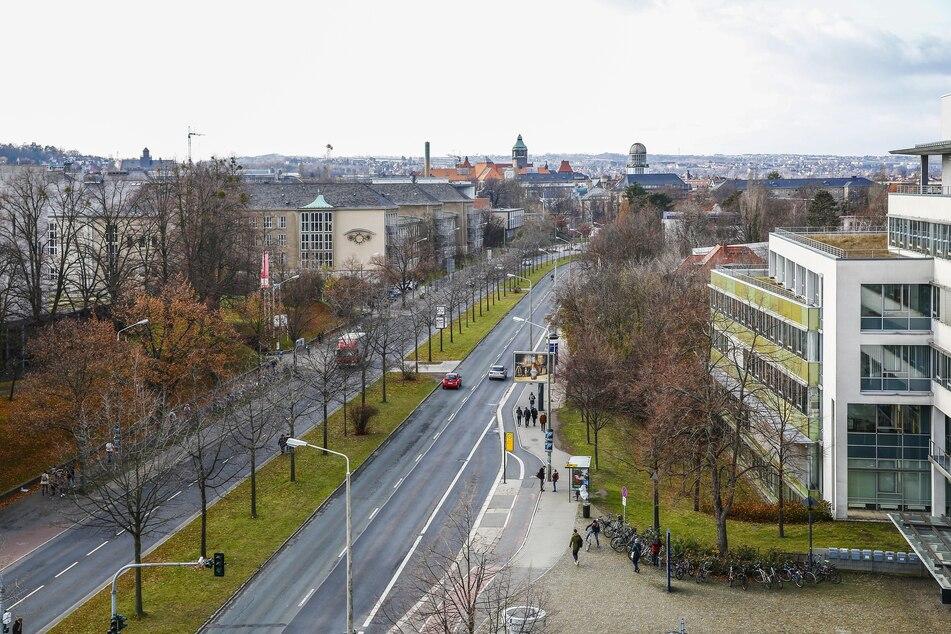 Die Diebe brachen in die Gebäude der TU Dresden am Zelleschen Weg ein.