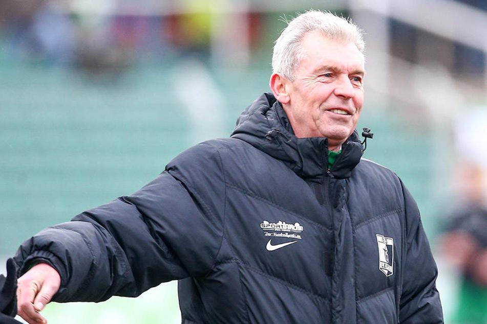 Seine Mannschaft lieferte auch gegen Fürstenwalde: Trainer Dietmar Demuth konnte sich über den ersten Auswärtssieg in dieser Saison freuen. (Archivbild)