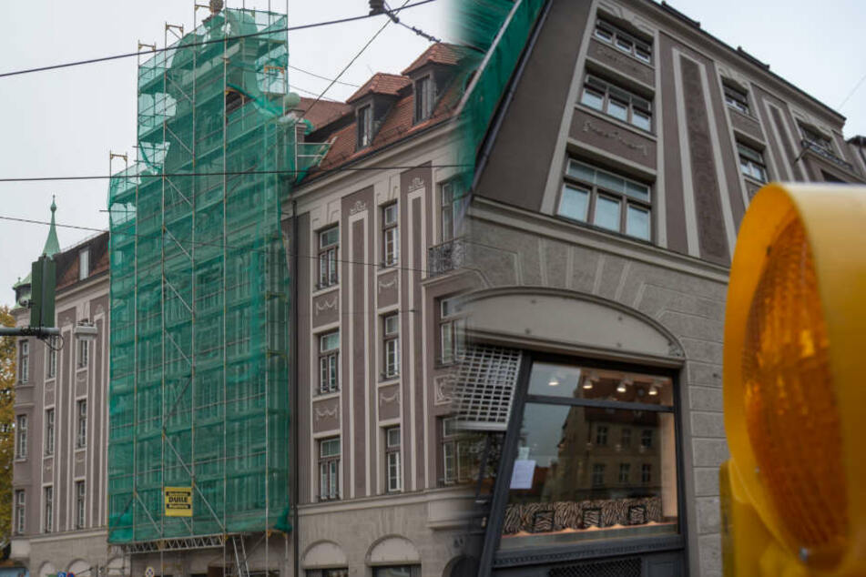 Das betroffene Wohnhaus in Augsburg könnte für sehr lange Zeit unbewohnbar sein.
