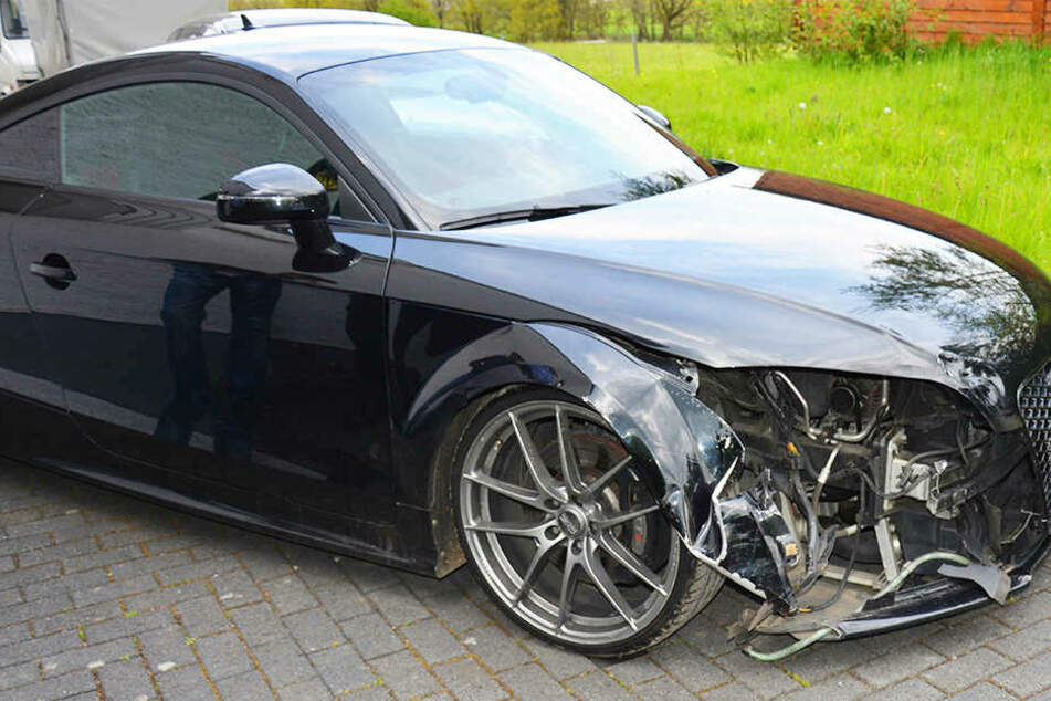 Der Schaden am gesuchten Audi TT war offensichtlich.
