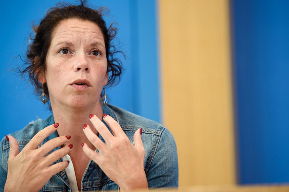Partei-Chefin Antje Feiks (40).