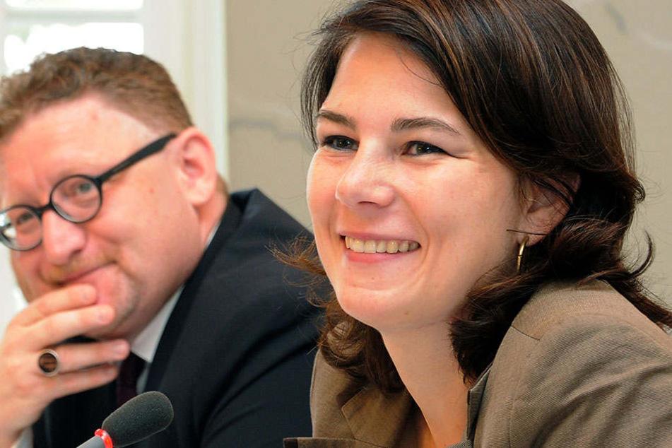 Hier neben FDP-Politiker Gregor Beyer 2013: Annalena Baerbock fordert den Ausbau des Eisenbahnverkehrs.