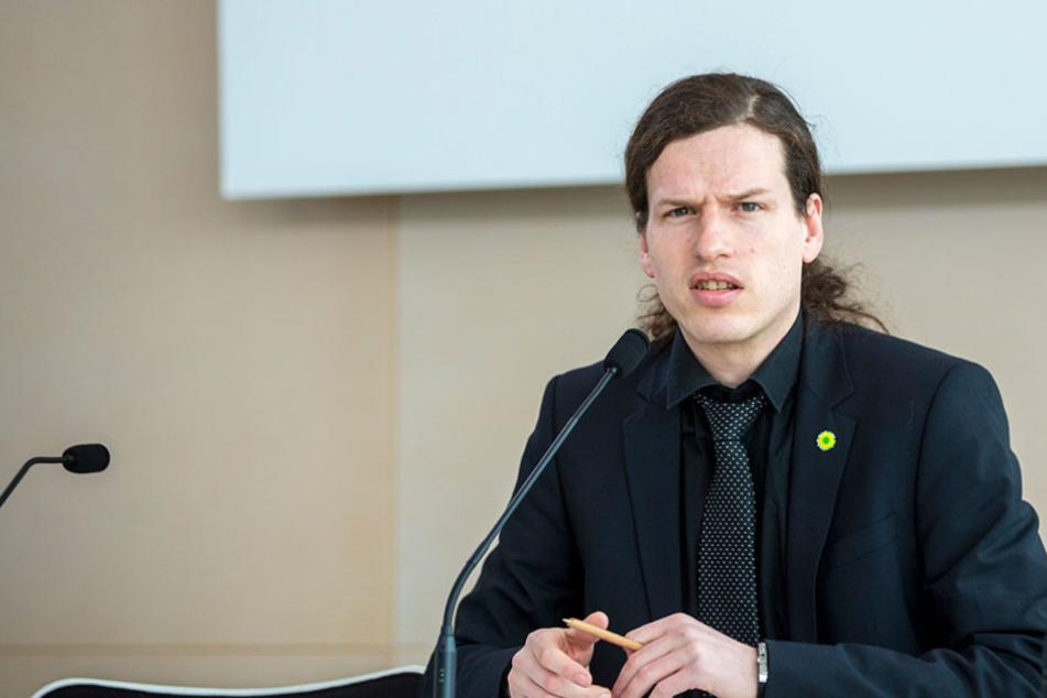 Nach einem Hooligan-Angriff erstattete Jürgen Kasek (36, Grüne) zahlreiche Anzeigen.